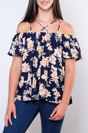 Peppermint Cold Shoulder Strap Top - Product Mini Image