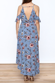 Peppermint Periwinkle Wrap Dress - Back cropped