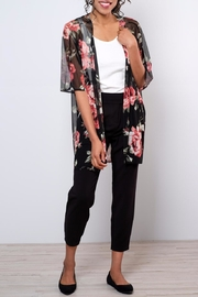 Peppermint Rose Print Kimono - Product Mini Image