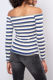Peppermint Striped Off Shoulder Top - Side cropped
