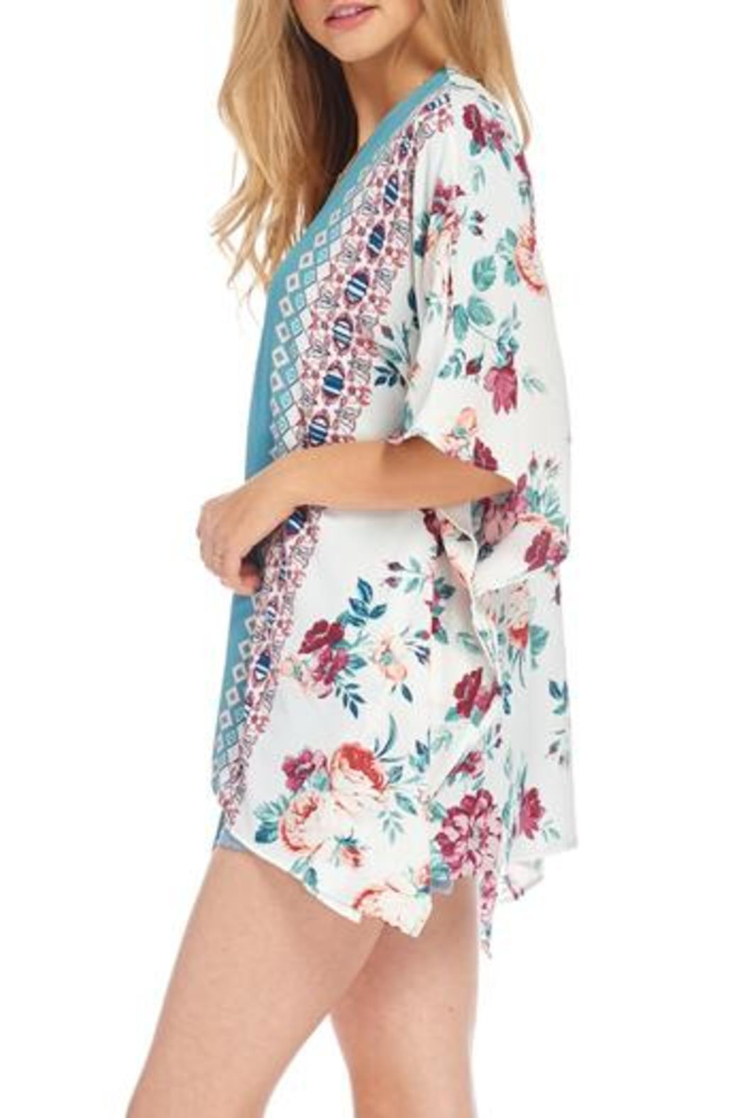 466089d2e Peppermint Teal Floral Kimono from Wisconsin by Apricot Lane ...