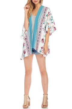 Peppermint Teal Floral Kimono - Product List Image
