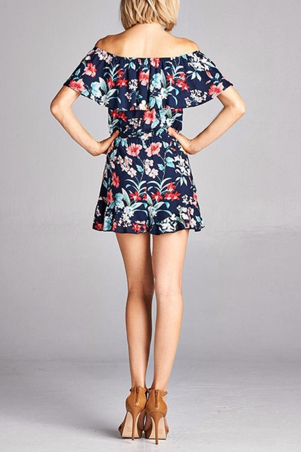 Peppermint The Jeanne Romper - Back Cropped Image