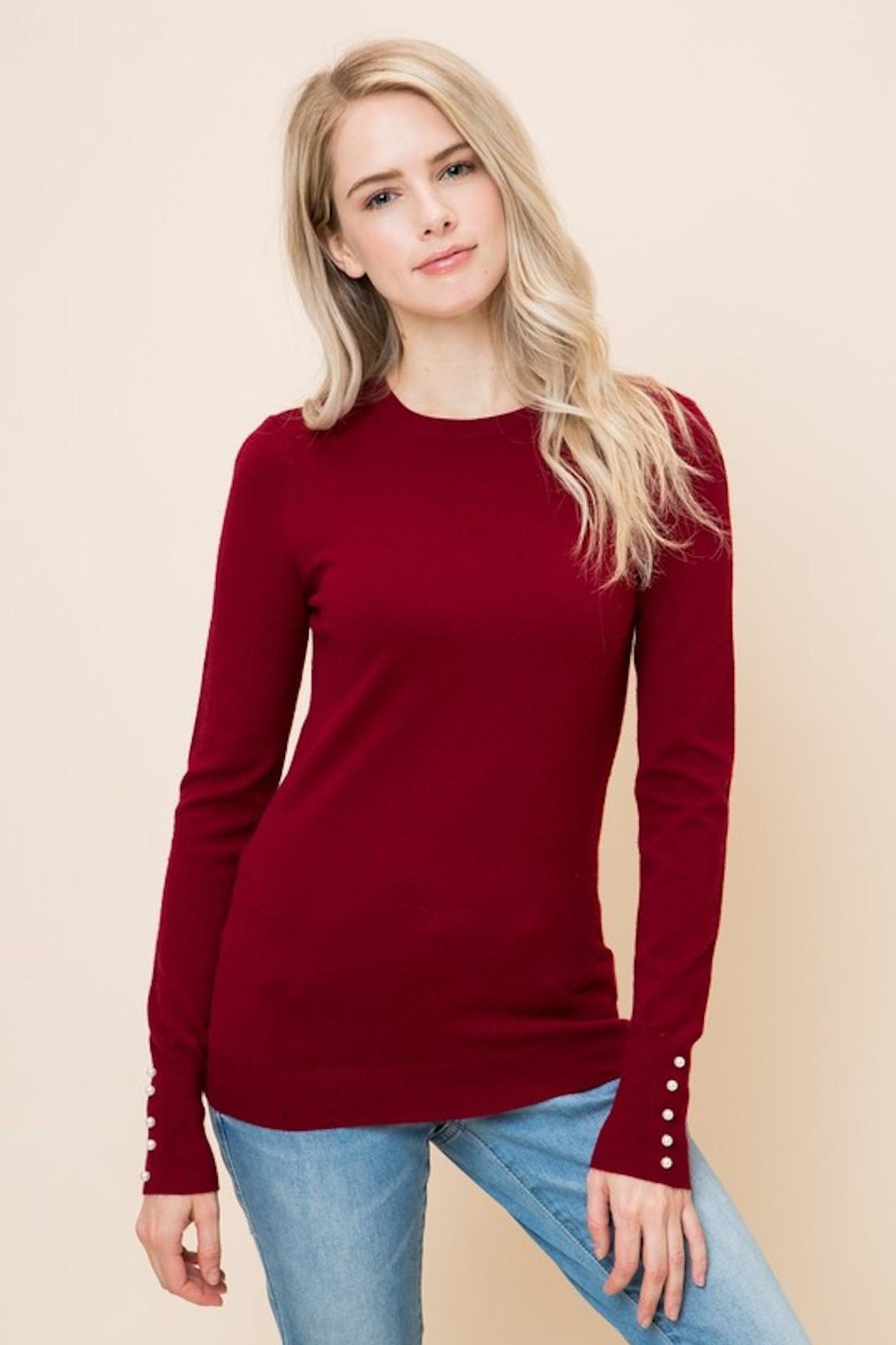 Love Tree Peral Sleeve Sweater - Main Image
