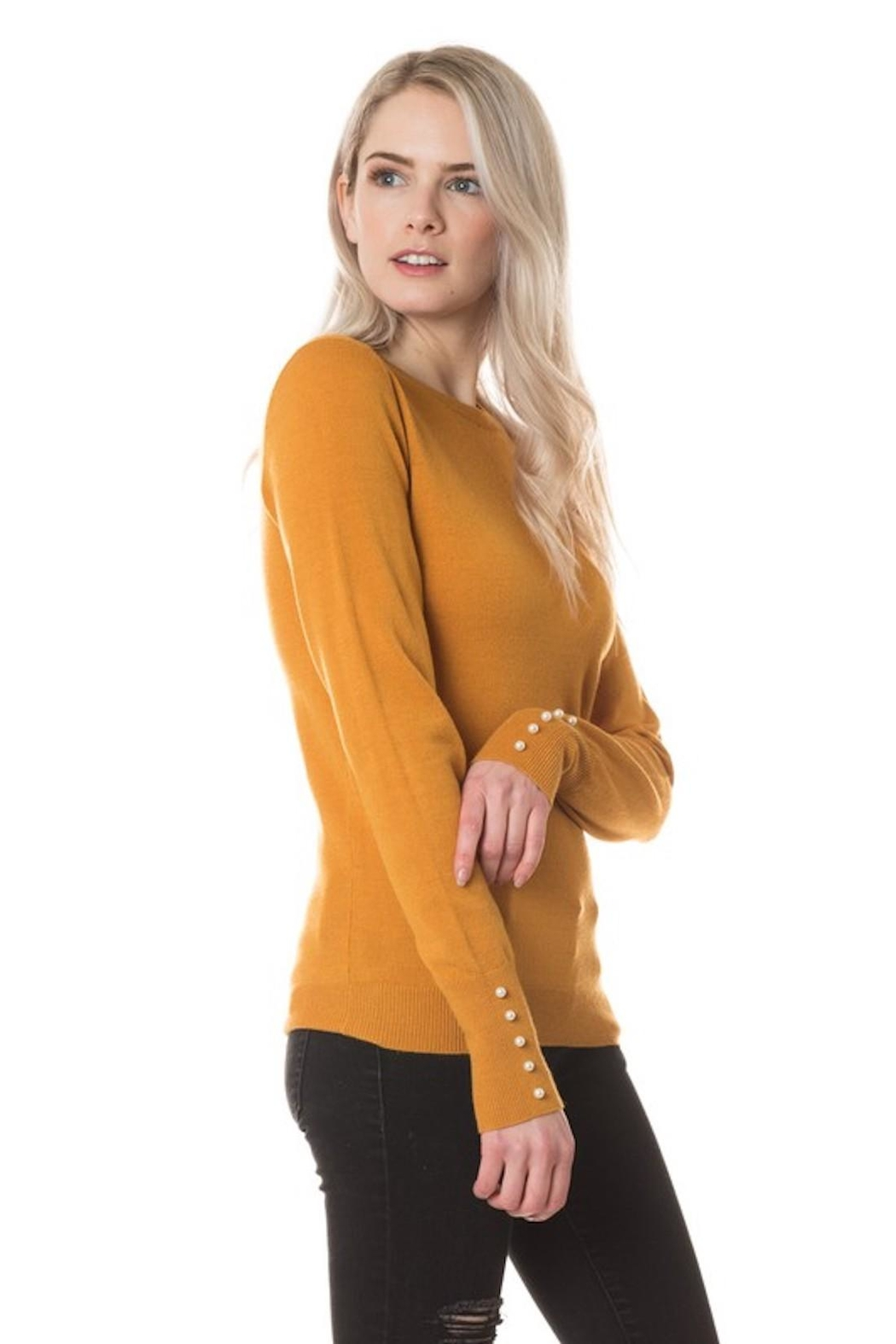 Love Tree Peral Sleeve Sweater - Front Full Image