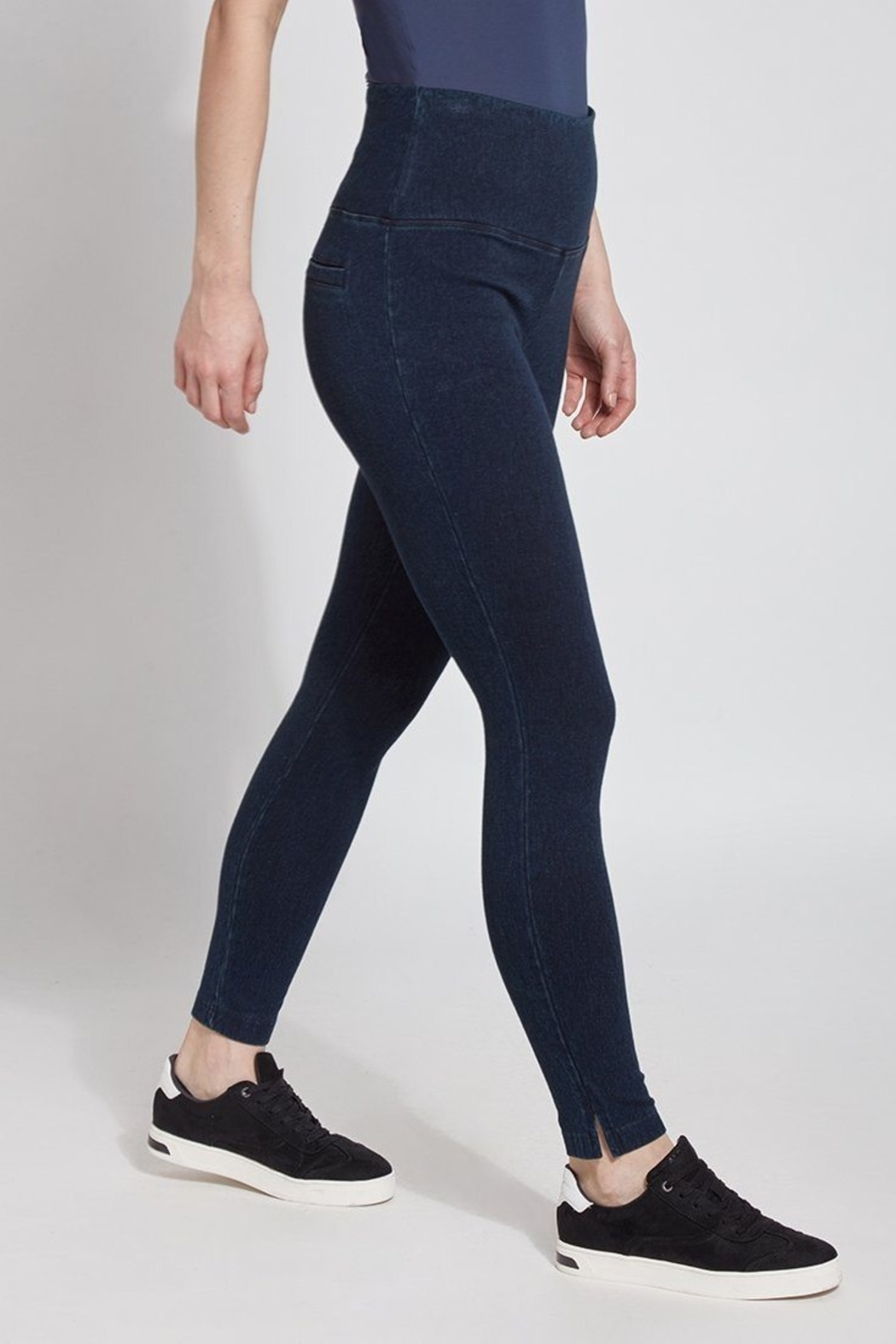Lysse Perfect Denim Leggins - Front Full Image