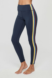 SPIRITUAL GANGSTER Perfect High Waist Side Stripe Legging - Front full body