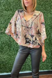 Band Of Gypsies Perfect In Paisley Blouse - Product Mini Image