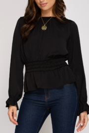 She and Sky Perfect in Peplum top - Product Mini Image