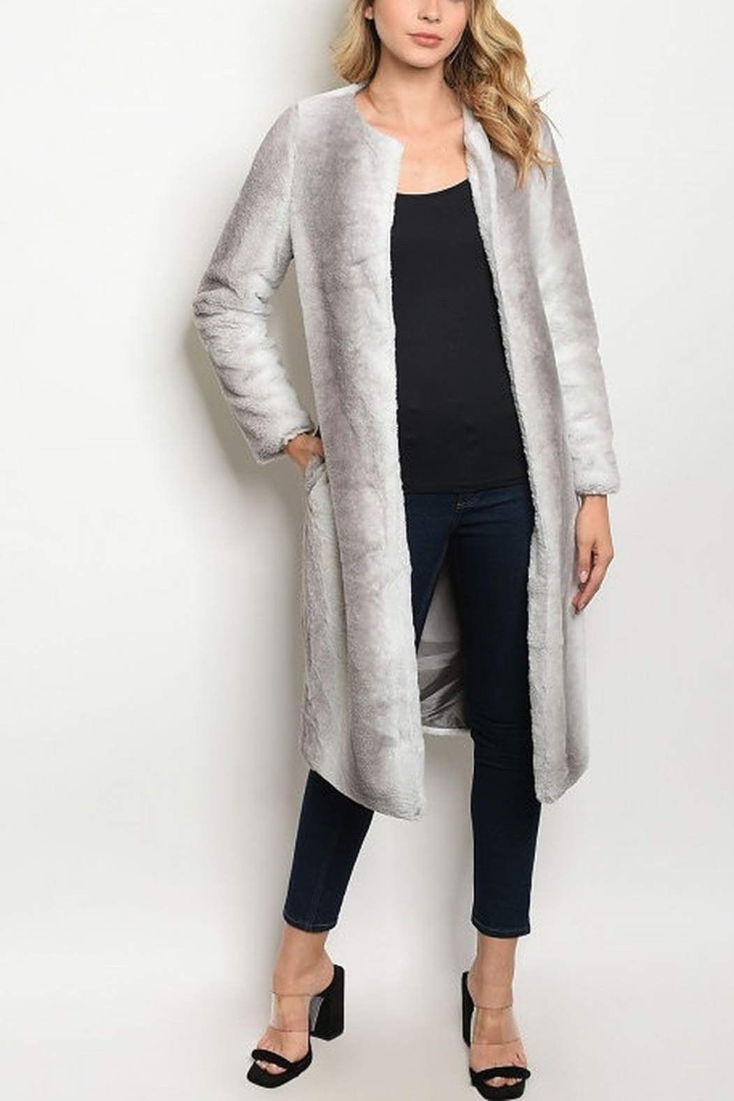 Lyn-Maree's  Perfect Long Faux Fur Coat - Main Image