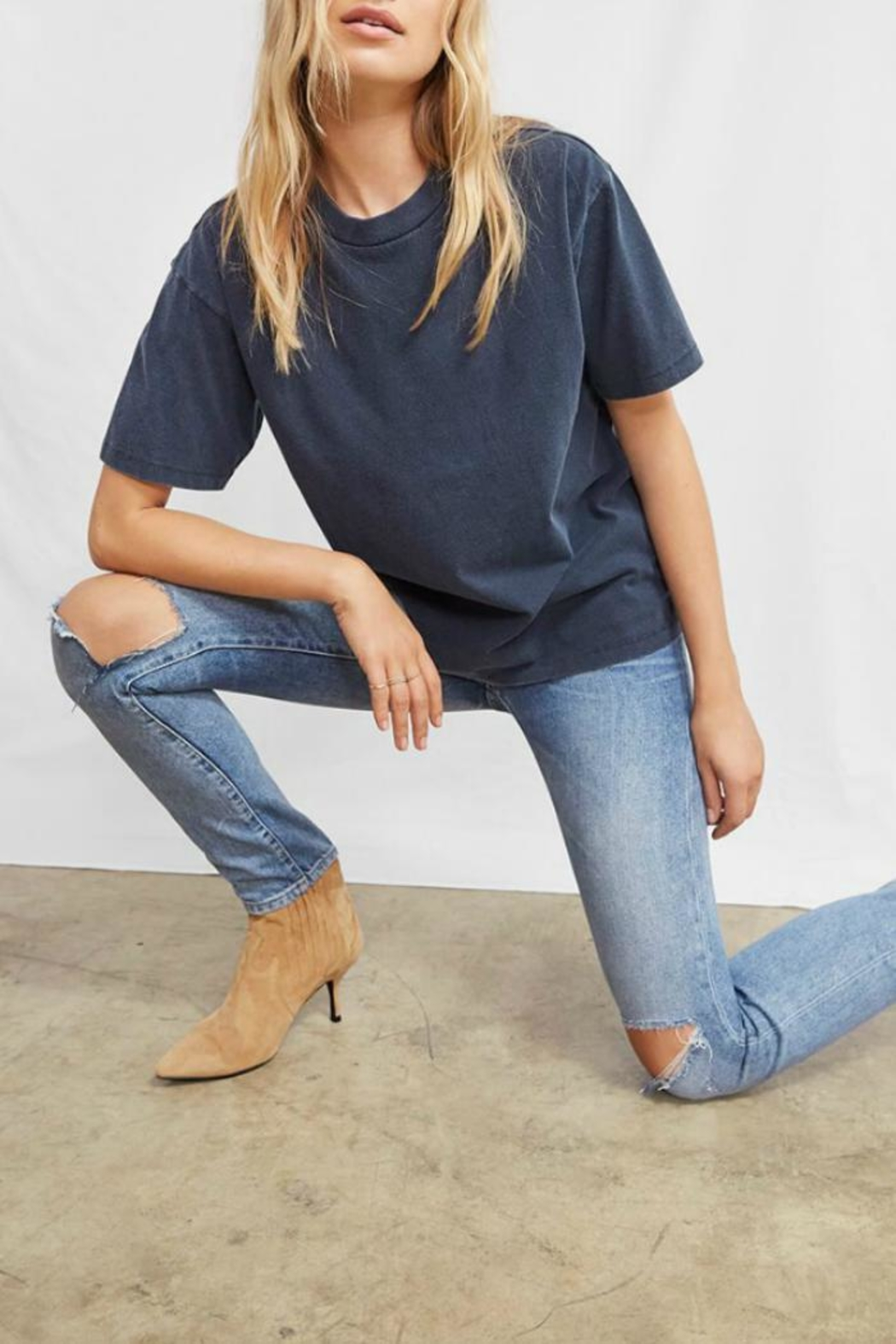 2614b2f16f Anine Bing Perfect Navy Tee from Canada by Era Style Loft — Shoptiques