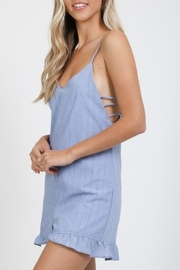 Very J  Perfect Pinstripe romper - Front full body