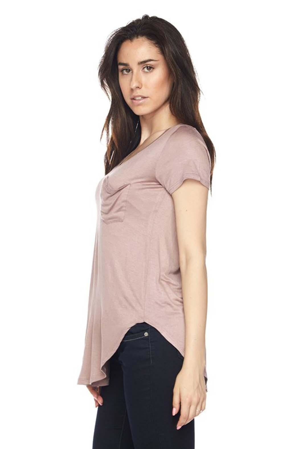 Ambiance Perfect Pocket Top - Side Cropped Image