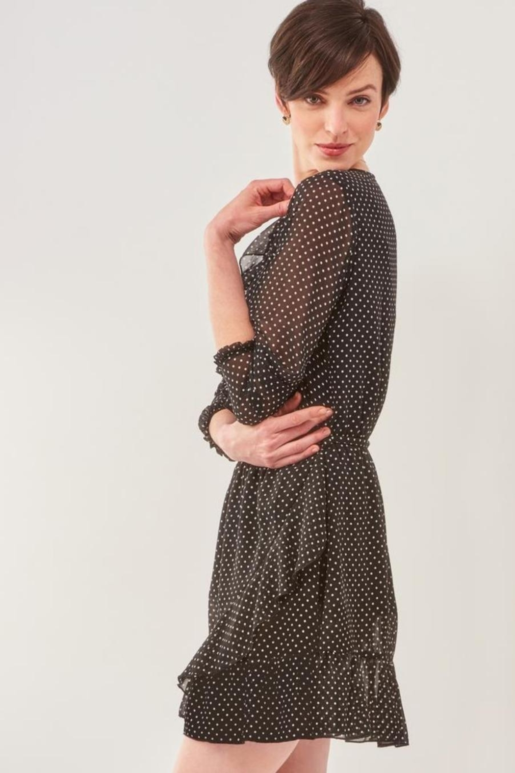 Charlie Paige Perfect Polka-Dot Dress - Side Cropped Image