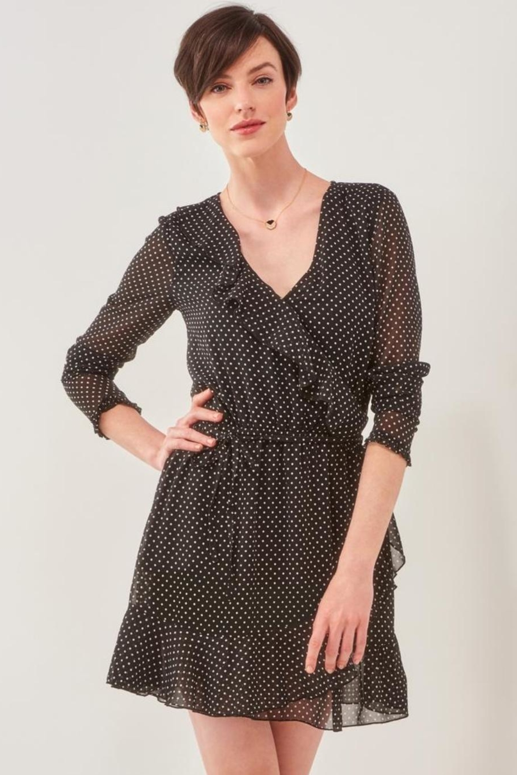 Charlie Paige Perfect Polka-Dot Dress - Main Image