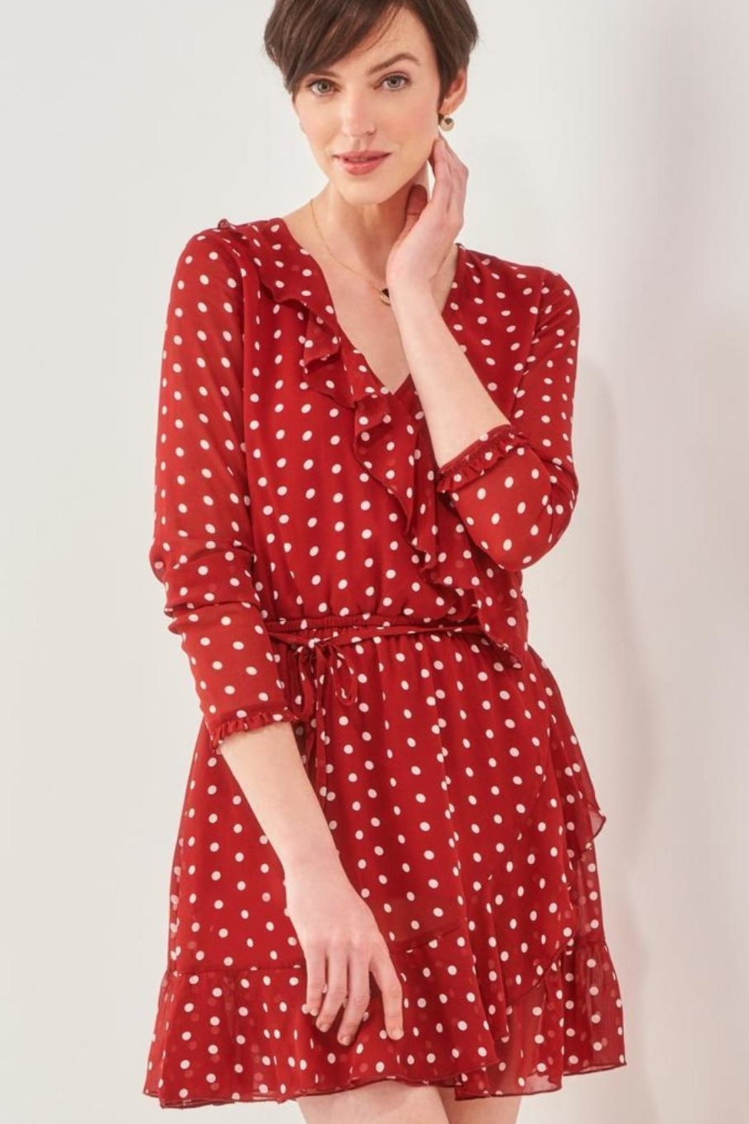 Charlie Paige Perfect Polka-Dot Dress - Front Cropped Image