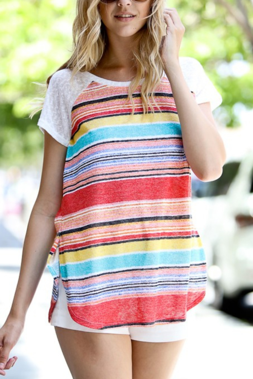 Lyn-Maree's  Perfect Stripe Tee - Main Image