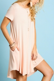 Umgee USA Perfect T-Shirt Dress - Front cropped