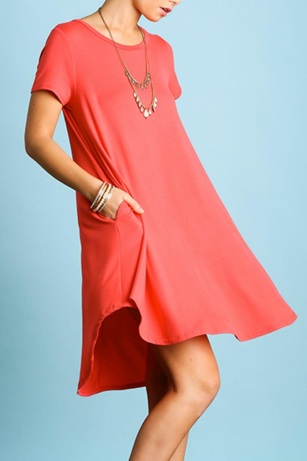 Umgee USA Perfect T-Shirt Dress - Front Full Image