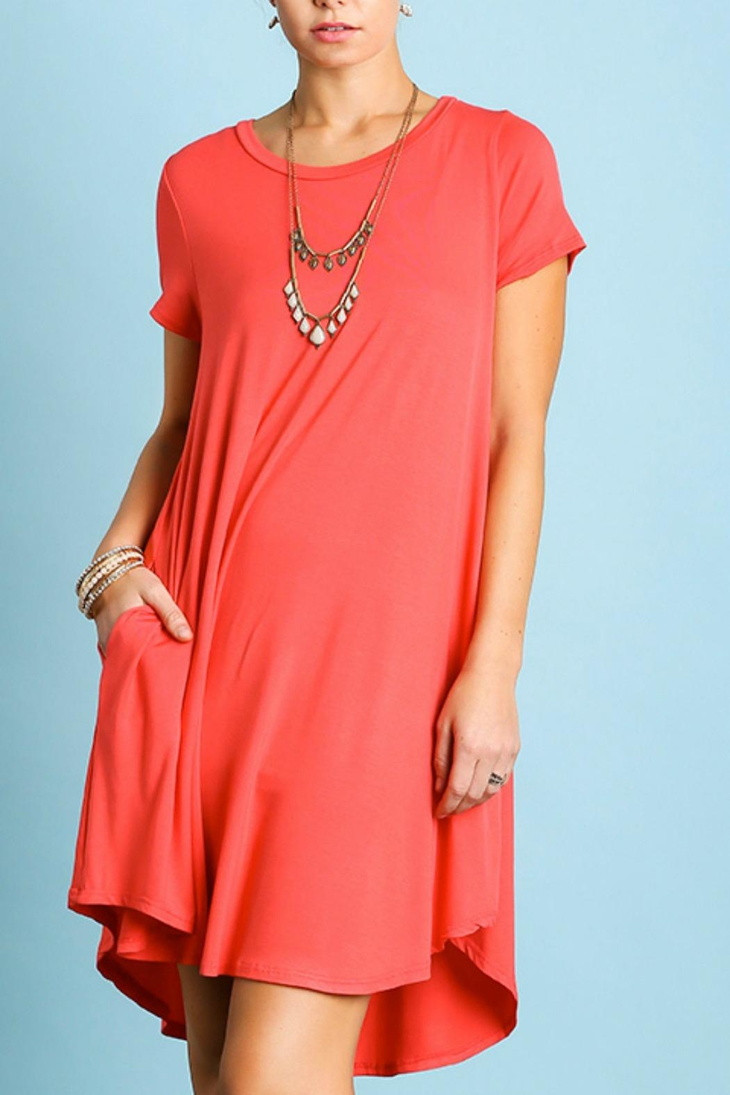 Umgee USA Perfect T-Shirt Dress - Front Cropped Image