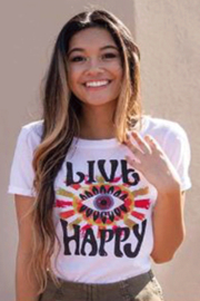 Natural Life Perfect Tee Live Happy Eye - Product Mini Image