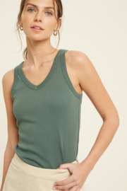 Wishlist Perfect Vneck Tank - Front cropped