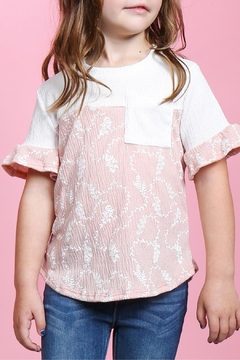 perfect peach Crepe Ruffle Top - Product List Image