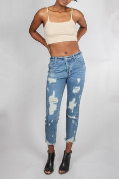 Shoptiques Product: Perfectly-Destroyed Vintage Denim