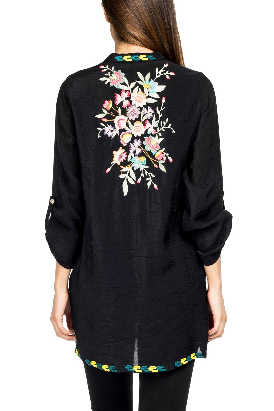 Adore Perfectly Embroidered Blouse - Front Full Image