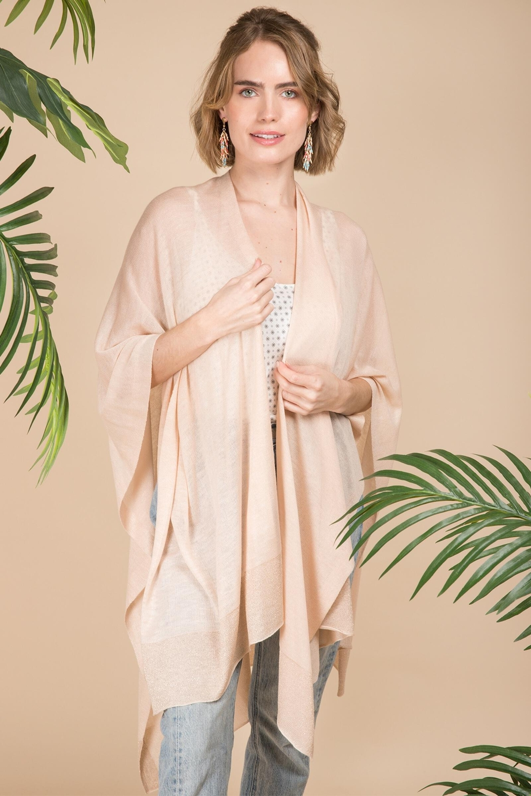 Saachi Perfectly Luxe Wrap - Front Cropped Image