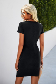 Lyn -Maree's Perfectly Placed Roush Dress - Front full body
