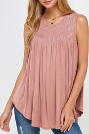 Allie Rose Perfectly Smocked Tank - Front cropped