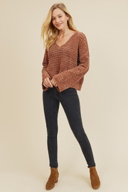 In Loom PERFORATED CHENILLE SWEATER - Back cropped