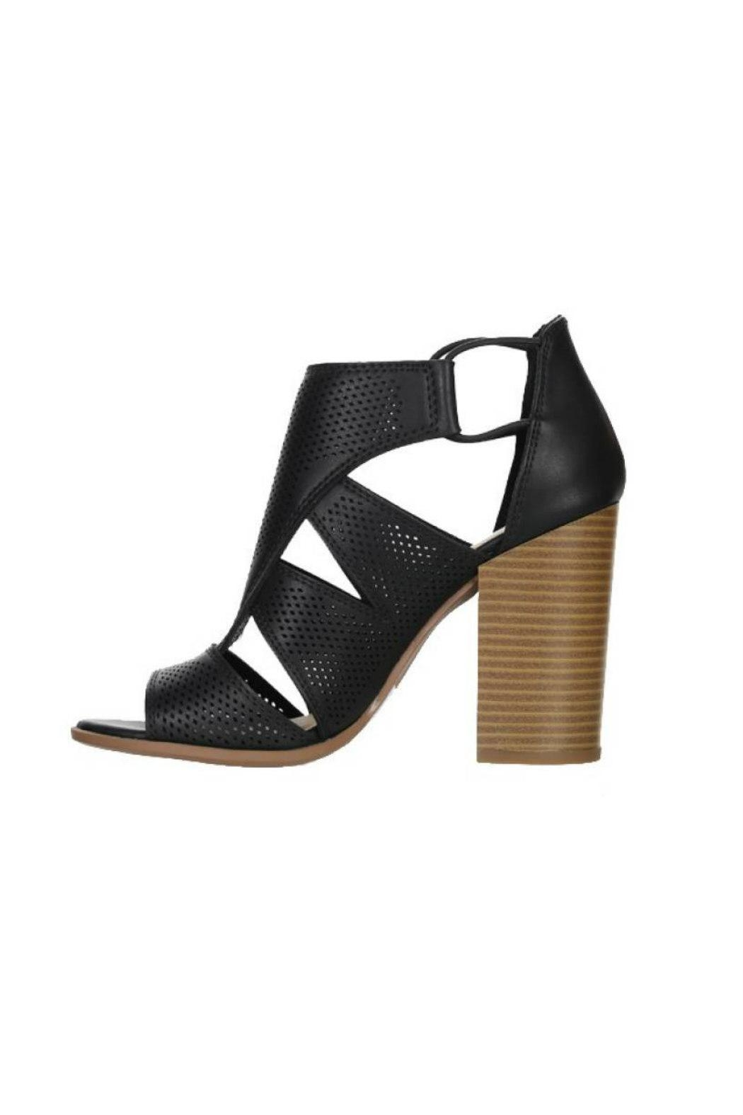 Soda Perforated Faux-Leather Sandal - Front Cropped Image