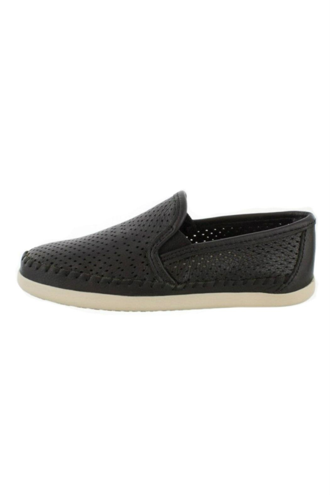 Minnetonka Perforated Leather Sneaker - Front Full Image
