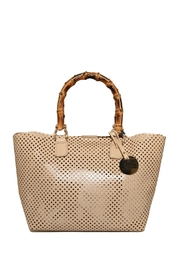 Bevini Modena Perforated Leather Tote - Front cropped