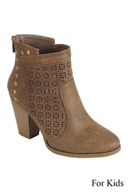 Forever Perforated Middle Bootie - Front cropped