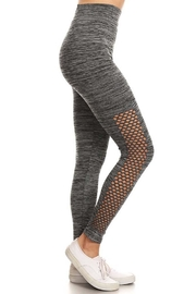 Kathy Perforated Space-Dye Legging - Front cropped