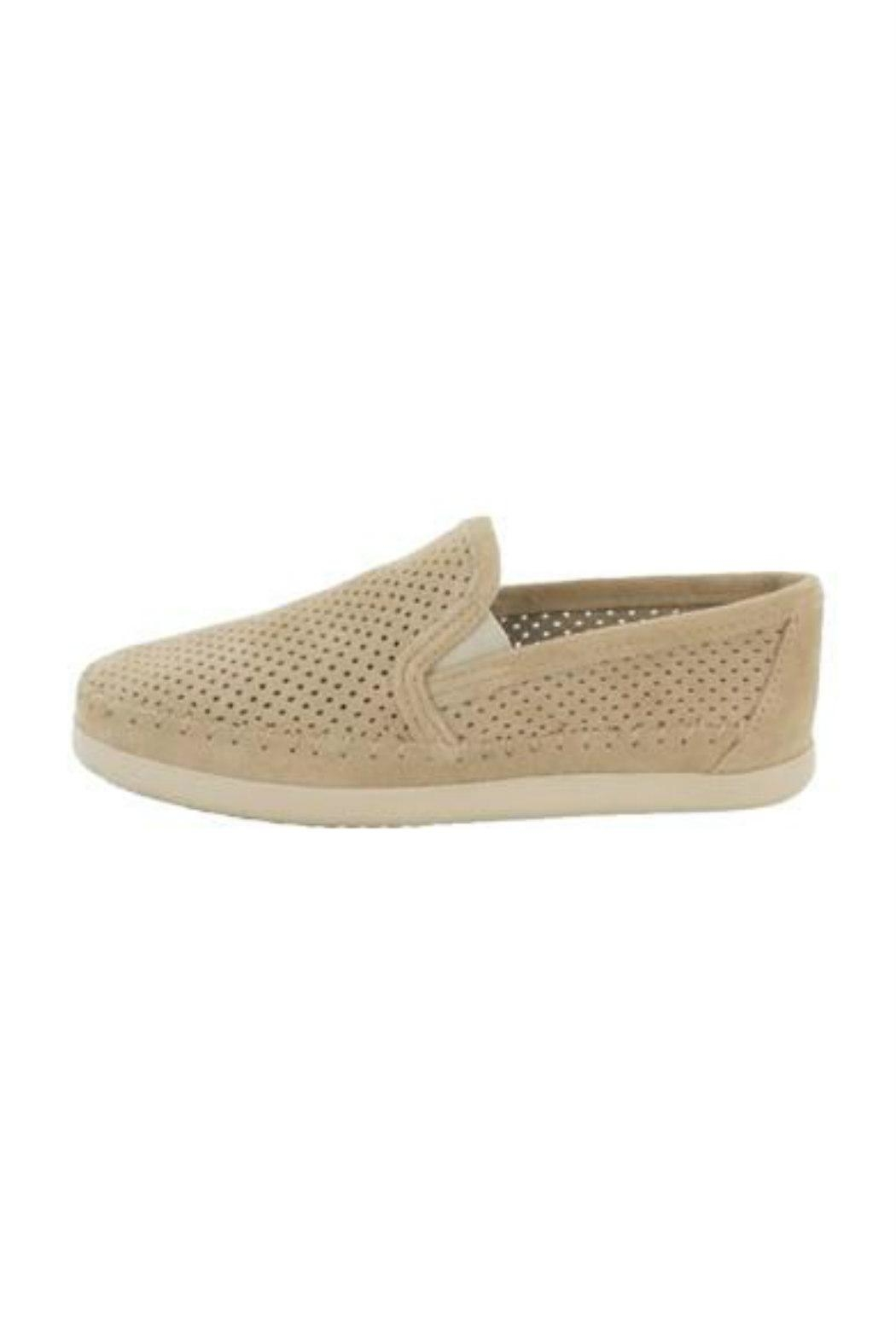 Minnetonka Perforated Suede Sneaker - Front Full Image