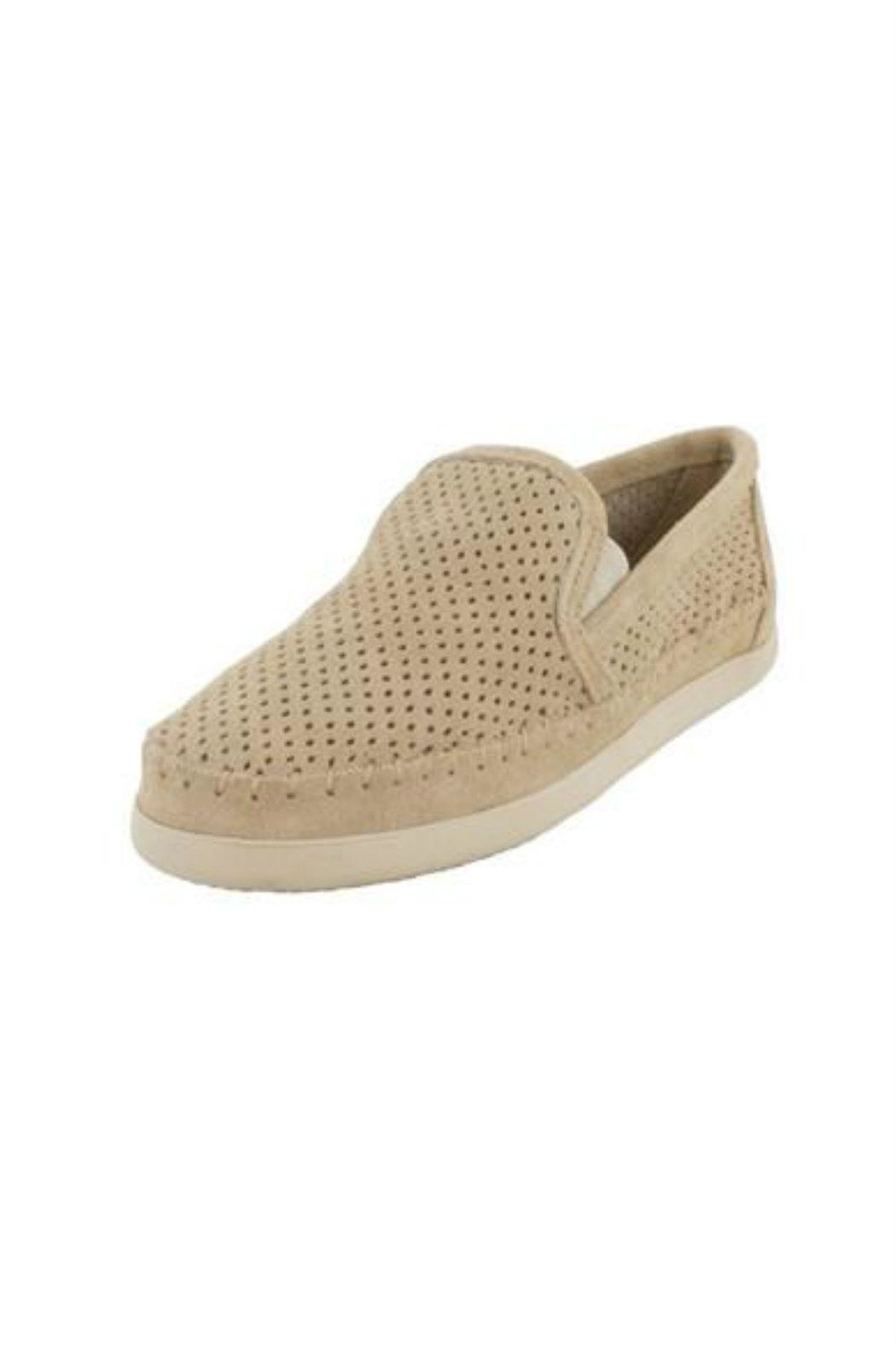 Minnetonka Perforated Suede Sneaker - Front Cropped Image