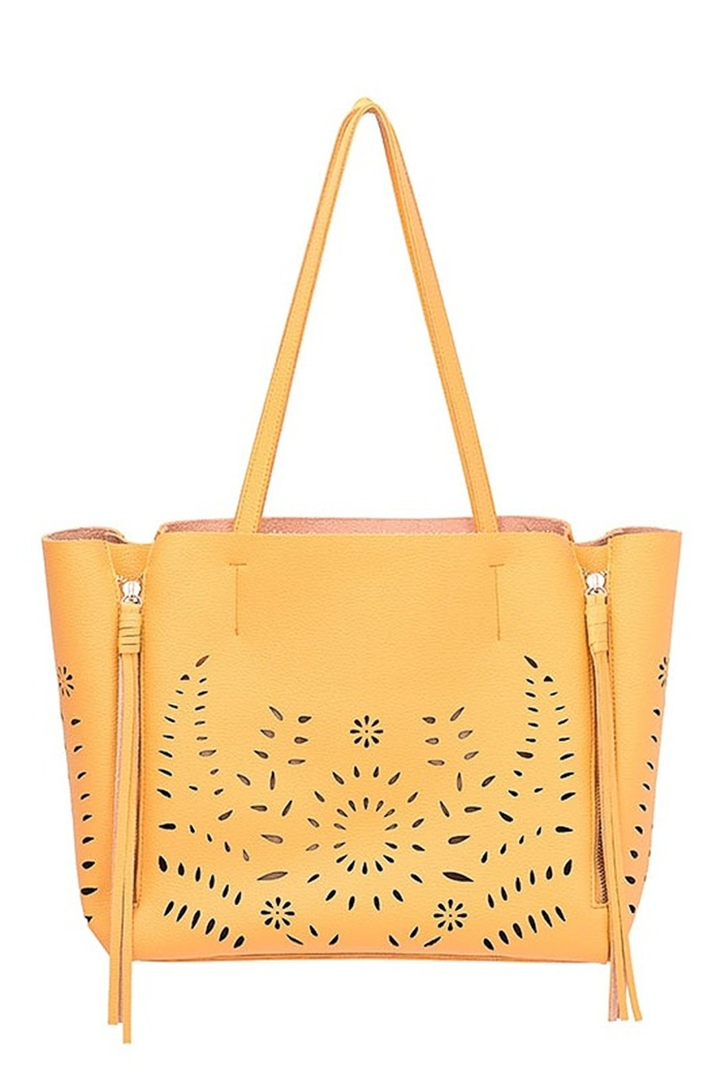 Mellow World perforated tote - Front Cropped Image