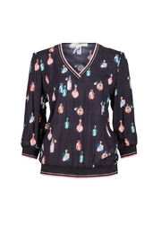Dame Blanche Anvers Perfume Print Top - Product Mini Image