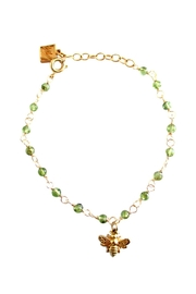 Malia Jewelry Peridot Bee Bracelet - Product Mini Image