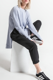 Others Follow  Periwinkle Long Sleeve Thermal Top - Back cropped