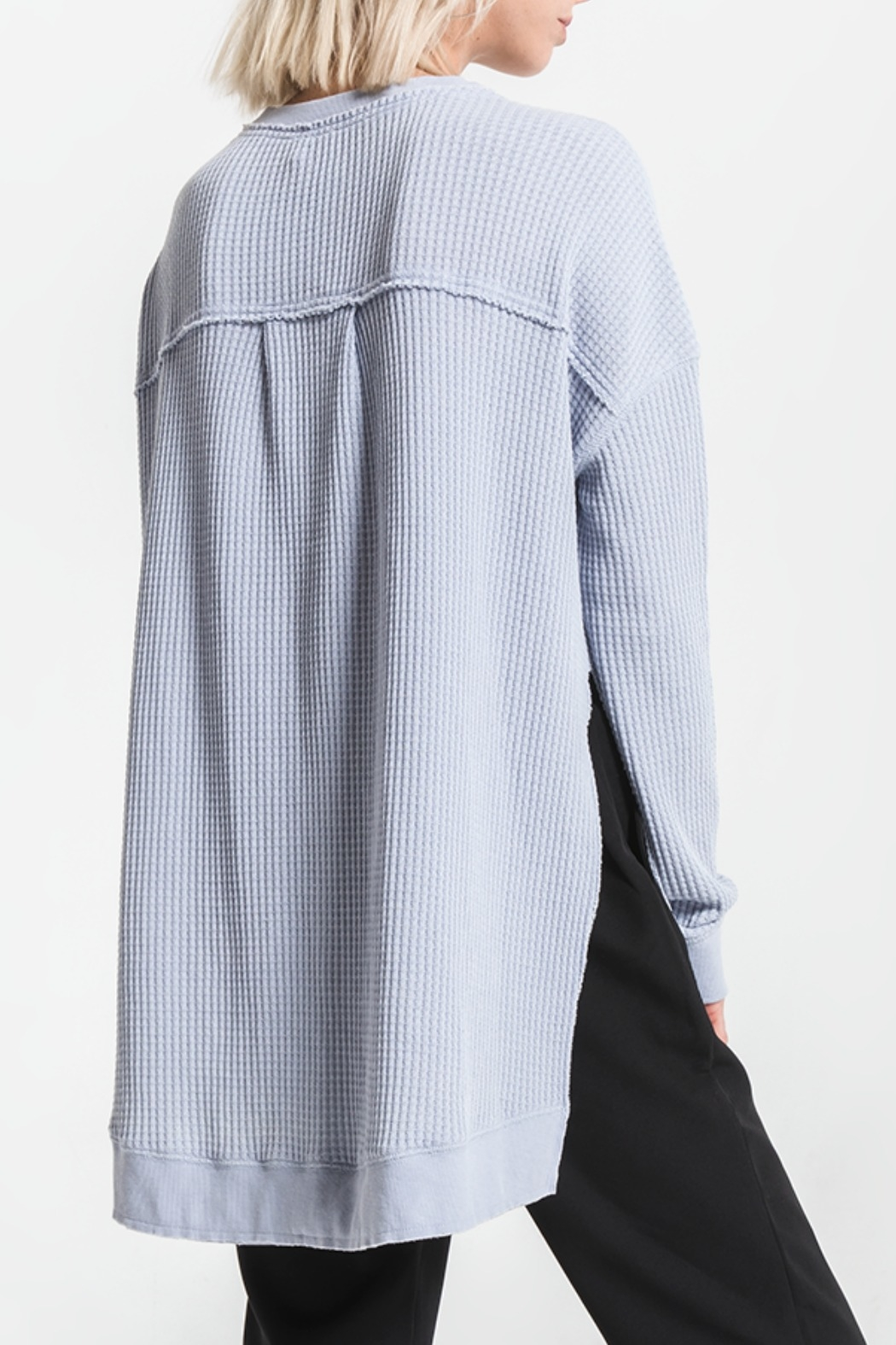 Others Follow  Periwinkle Long Sleeve Thermal Top - Front Full Image