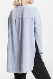 Others Follow  Periwinkle Long Sleeve Thermal Top - Front full body