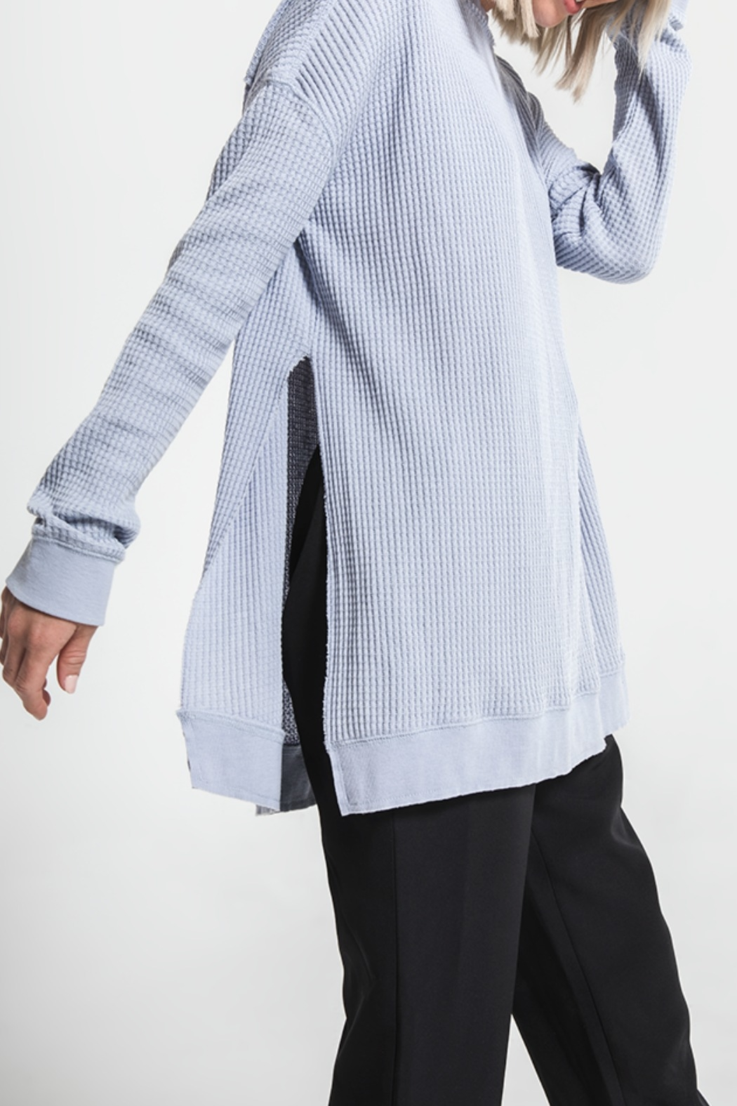 Others Follow  Periwinkle Long Sleeve Thermal Top - Main Image
