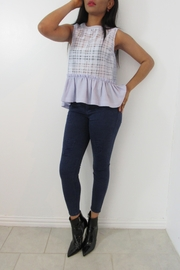 MODChic Couture Periwinkle Peplum Top - Product Mini Image