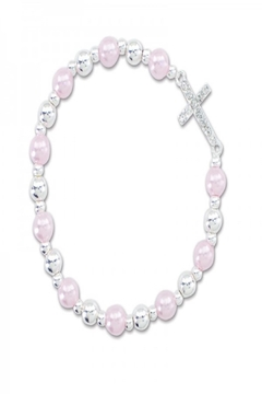 Periwinkle by Barlow Crystal Cross Bracelet - Product List Image
