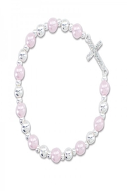 Periwinkle by Barlow Crystal Cross Bracelet - Product Mini Image